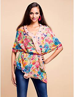 farverig voile med mønster dagligt slid tørklæde / sjal (flere farver)