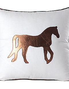 Modern Horse Linne & Leather dekorativ örngott