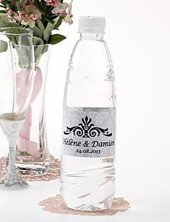 personalisierte Wasserflasche sticker - regal (silber / Set von 15)