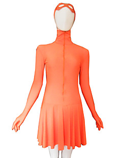 Bright Orange Lycra Dress with Eye Mask