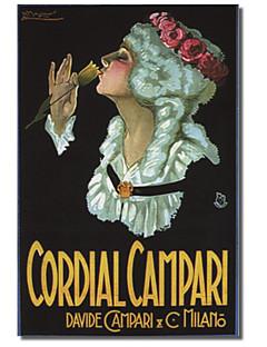 arte tela stampata annata cordiale Campari (2) per collezione mela vintage con telaio allungato