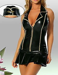 Sexy Cool Front-RV Black Dress Flight Pilot Uniform (2 Stück)