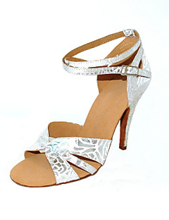 Customized Women's Dance Performance Shoes With Ankle Strap And Buckle