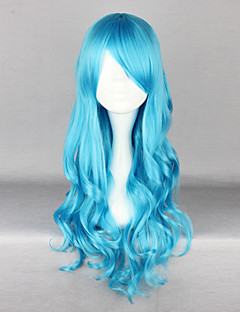 Lolita Wigs Classic/Traditional Lolita Lolita Long / Curly Blue Lolita Wig 70 CM Cosplay Wigs Solid Wig For Women