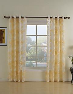 zwei Panele Window Treatment Rustikal Wohnzimmer Polyester Stoff Gardinen Shades Haus Dekoration For Fenster