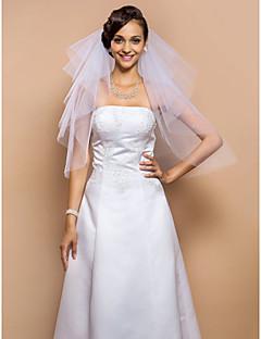 잘라 내기 에지 & Sequins로 (더 많은 색깔)로, 네 개의-계층 팔꿈치 베일