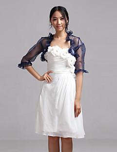 Wedding / Party/Evening / Casual Organza Coats/Jackets Half-Sleeve Wedding  Wraps