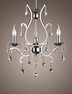 Lámpara Chandelier de Cristal con 3 Bombillas - BERKELEY