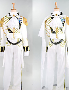 Prince Charming White Satin Royal Knight Costume