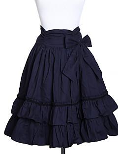 Sukně Klasická a tradiční lolita Lolita Cosplay Lolita šaty Inkoustová modř Jednobarevné Lolita Medium Length Sukně Pro Dámské Bavlna