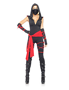 Sexy V-neck Ninja Women's Halloween Costumes
