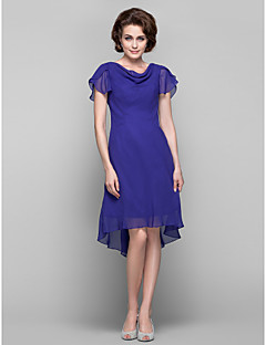 Lanting Dress - Regency Plus Sizes / Petite Sheath/Column Cowl Knee-length / Asymmetrical Chiffon