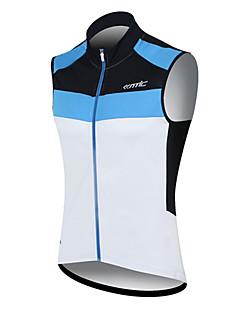 SANTIC Maillot de Cyclisme Homme Sans Manches Vélo Gilet/Sans Manche Maillot Hauts/Tops Séchage rapide Pare-vent Vestimentaire Respirable