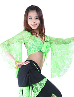Belly Dance Tops Women's Training Lace Black / Fuchsia / Green / Light Blue / Orange / Red / Royal Blue / White / YellowBelly Dance /
