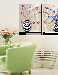 Art Em Canvas Still Life Swirl Vaso Set de 2