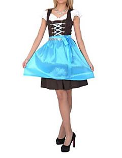 Beer Festival Gastfreundlich Mädchen Sky Blue Cotton Dress Maid Uniform