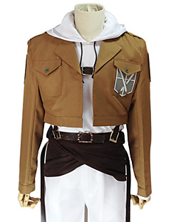 Inspirado por Attack on Titan Annie Leonhardt Animé Disfraces de cosplay Trajes Cosplay Un Color Marrón Manga LargaAbrigo / Top /