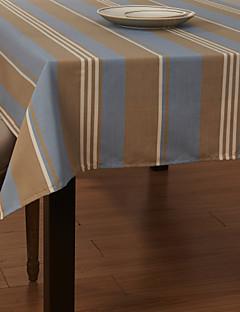 Concise large table en tissu à rayures
