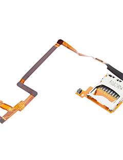 Reemplazo de la ranura de tarjeta SD con Flex Cable para Nintendo DSi (Silver + Gold)