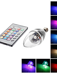 E14 3W 1 LM RGB C35 Remote-Controlled LED Candle Lights AC 85-265 V