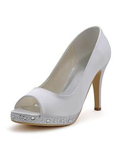 Feminino Wedding Shoes Saltos Saltos Casamento Preto/Azul/Amarelo/Rosa/Roxo/Vermelho/Marfim/Branco/Prateado/Dourado