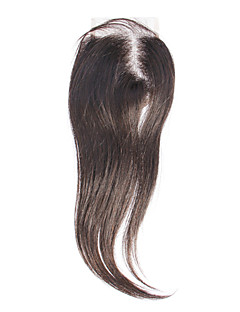 "12 ""100% Human Hair Extension prosty czarno Hair Silky"