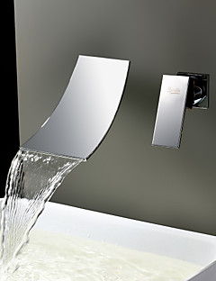 Sprinkle® Sink Faucets  ,  Contemporary  with  Stainless Steel Single Handle Two Holes  ,  Feature  for Waterfall / Widespread / Wall