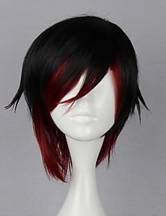Cosplay Wigs RWBY Ruby Rose Black / Red Short Anime Cosplay Wigs 35 CM Heat Resistant Fiber Female