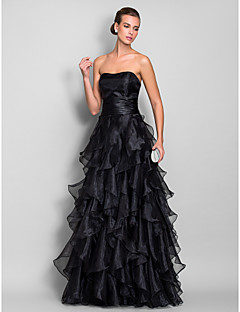 TS Couture Formal Evening / Prom / Military Ball Dress - Black Plus Sizes / Petite A-line Sweetheart Floor-length Organza
