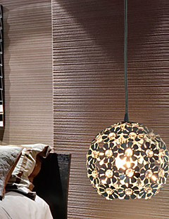 ペンダントライト ,  現代風 ボール形 電気メッキ 特徴 for クリスタル ミニスタイル メタル ベッドルーム ダイニングルーム