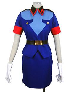 Lovely Girl Kurzarm Blau Stewardess Uniform