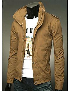 Langdeng Повседневная мода Стенд воротник куртки (хаки)