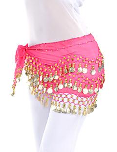 dancewear chiffon cintura danza del ventre con 128 monete per le signore (più colori)
