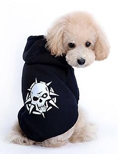 honden Hoodies Zwart Hondenkleding Lente/Herfst Doodskoppen Modieus