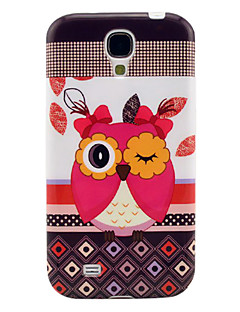 Cute Owl Pattern Soft TPU IMD Case for Samsung Galaxy S4 I9500