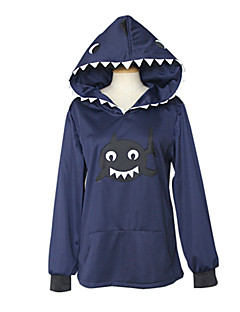Free! Rin Matsuoka Blæk Blå Shark Hoodie