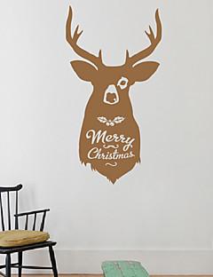 Vacaciones reno de la Navidad pegatinas de pared
