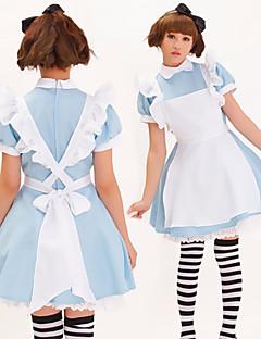 Alices Abenteuer im Wunderland Blau Polyester Maid Uniform