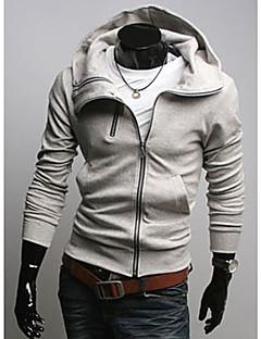 Большой ДЗГ Мужской размер Slim Fit Светло-серый свитер / пальто Y017-3