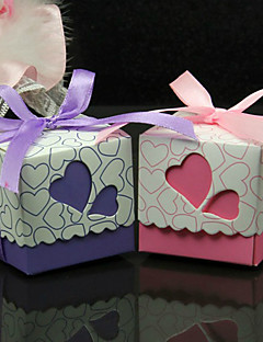 Herz-Entwurfs-Hochzeit Bevorzugungen Mit Farbband - Set von 50 (weitere Farben)