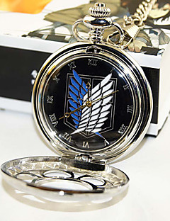 Clock/Watch Inspirirana Napad na Titanu Eren Jager Anime Cosplay Pribor Clock/Watch Crna / Srebrna Alloy Male