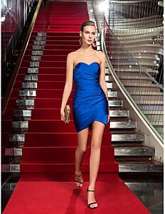 cóctel de regreso a casa vestido de fiesta / vacaciones - además del azul real de los tamaños de vaina / novia de columna corta mini-Jersey /
