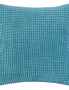 "18 ""Squard Novelty Plaid Textured Velvet Polyester Dekorativa Kuddfodral"