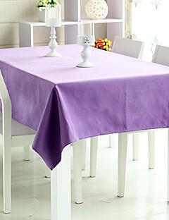 """Violet solide table en tissu, polyester 80 """"* 56"""""""