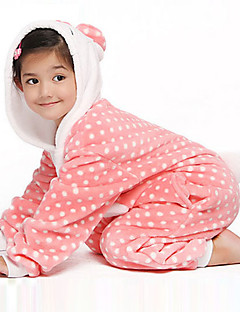 Kitty Pois Flanelle enfants Kigurumi pyjama