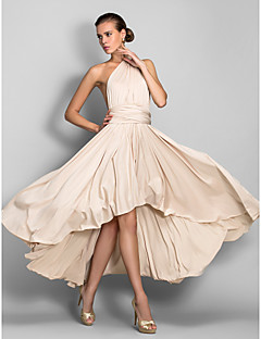 Cocktail Party / Formal Evening / Wedding Party Dress - Convertible Dress A-line V-neck Asymmetrical Jersey with
