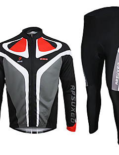 ARSUXEO® Cycling Jersey with Tights Men's Long Sleeve Bike Breathable / Thermal / Warm / Quick DryJersey / Jersey + Pants/Jersey+Tights /
