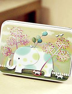rektangel elefant mønster tin boks