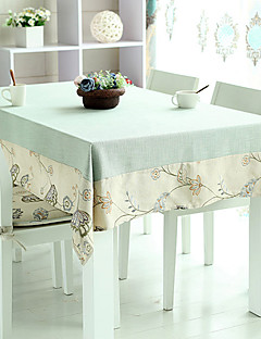"""Patchwork floral Nappe, Polyester / lin 72 """"* 52"""""""
