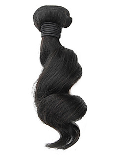 1stk 18inch Natural Black Loose Wave Brasilianske Virgin Hair Weave
